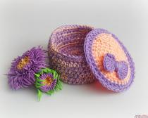 Подробные схемы вязания крючком. Шкатулка крючком