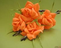 Заколки из фоамирана «Огненная роза». Мастер-класс