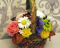 Корзина осенних цветов