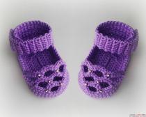 Вязание для детей крючком пинеток. Пинетки-сандали