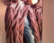 Вязание <i>выкройки жакетов женских больших размеров</i> спицами: Кардиган Лало