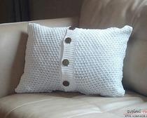 Наволочка на подушку из свитера или рубашки