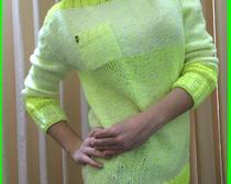 Вязание спицами: Джемпер Лимонный смузи