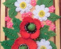 Панно из фетра: Цветы