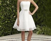 Короткое свадебное платье. Выкройка