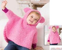 Вязание спицами для детей - пончо для девочек