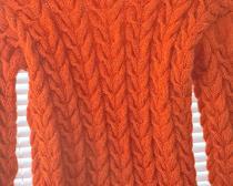 Вязание спицами: Джемпер с косами