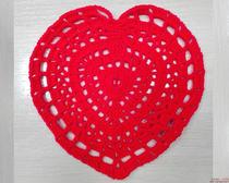 Салфетки крючком: сердце на валентинов день