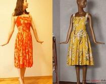 Выкройка легкого платья-сарафана