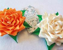 Атласные цветы своими руками: розы из атласных лент