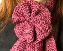 Вязание шарфа с бантом для начинающих