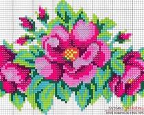 Как вышивать цветы при помощи бисера.