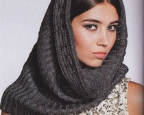Как связать модный шарф-снуд спицами?