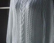 Вяжем спицами белый пуловер