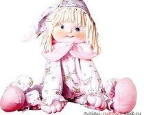 Симпатичная кукла из ткани