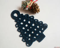 Новогодняя елка - салфетка крючком