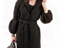 Элегантное вязаное пальто для женщин