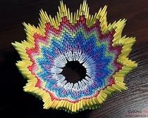 Оригами-ваза своими руками - урок создания разноцветной вазы