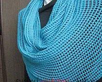 Снуд бирюзовый, вязание крючком