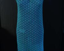 Ажурное платье из акриловой пряжи