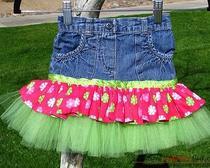 Шитьё юбки из старых джинсов для девочки