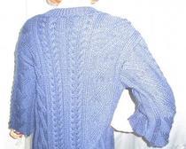 Кардиган с косами - вязание спицами