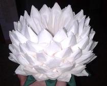 Цветы из бумажных салфеток. 2 вида