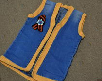 Выкройка жилета из старых джинс для ребенка