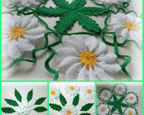 Вязание крючком: ромашки от Наташки