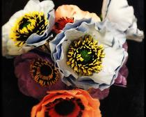 Цветы из холодного фарфора - анемоны