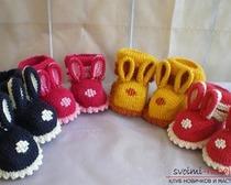 Вязание пинеток-зайчиков для детей