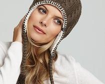 Вязание зимней шапки с ушками спицами
