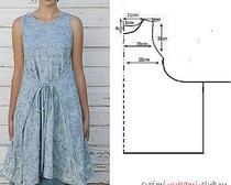 Выкройка платья-сарафана изо льна