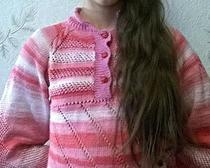 Вязание спицами: Кофточка Веселые полоски