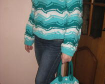 Вязаный Комплект для женщин: свитер и сумка