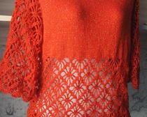 Блузка с ажурным низом