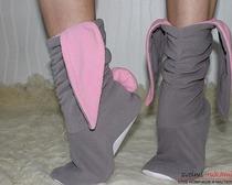 Тапочки-зайчики шьем легко