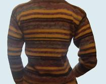 Вязание спицами: полосатый джемпер