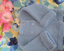 Вязание спицами: Кардиган для мальчугана