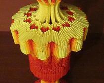 Ваза Птица-жар в технике модульного оригами