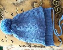 Вязание спицами: Зимняя шапочка для дочки