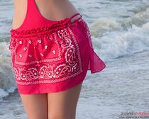 Супер-лёгкая пляжная юбка из банданы