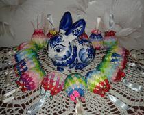 Мастер-класс: пасхальные яйца с бантиками