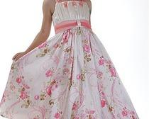 Выкройка для детского нарядного платья 80