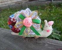 Текстильная игрушка - улитка-тильда