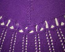 Вязание спицами: Пончо фиолетовый шик