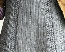 Вязаная прямая юбка без швов