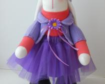 Текстильная кукла Зайка