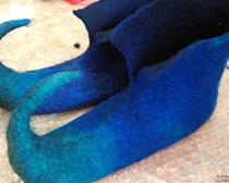 Валяние эльфийских тапочек - новогоднее валяние обуви своими руками