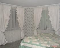 Изготавливаем прекрасные шторы для спальни своими руками